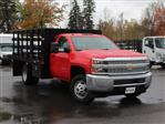 2019 Silverado 3500 Regular Cab DRW 4x4,  Rugby Series 2000 Stake Bed #19C41T - photo 10