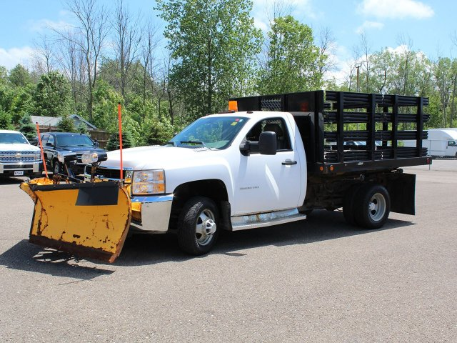 2010 Silverado 3500 Regular Cab 4x4,  Stake Bed #19C42TU - photo 3