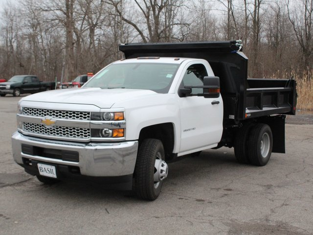 2019 Silverado 3500 Regular Cab DRW 4x4,  Crysteel Dump Body #19C43T - photo 9