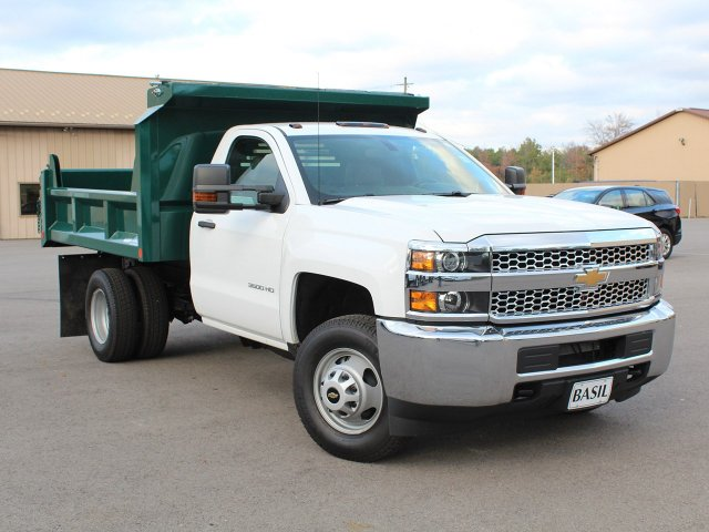 2019 Silverado 3500 Regular Cab DRW 4x4,  Crysteel Dump Body #19C44T - photo 10