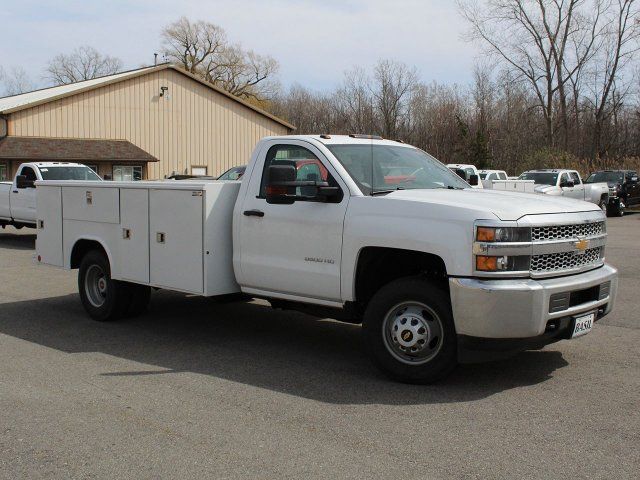 2019 Silverado 3500 Regular Cab DRW 4x4,  Reading Service Body #19C47T - photo 9