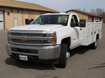 2019 Silverado 3500 Regular Cab DRW 4x4,  Reading Classic II Steel Service Body #19C47T - photo 5