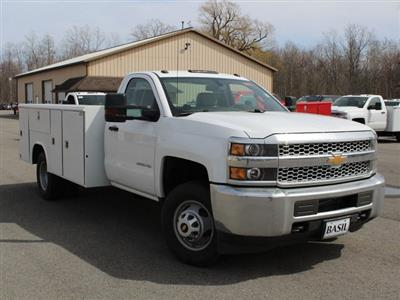 2019 Silverado 3500 Regular Cab DRW 4x4,  Reading Classic II Steel Service Body #19C47T - photo 7