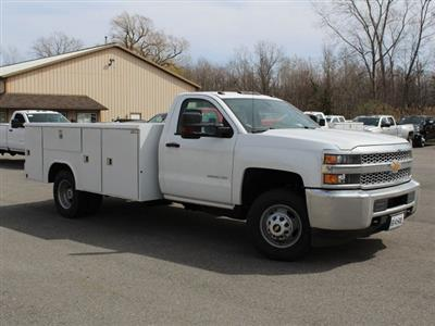 2019 Silverado 3500 Regular Cab DRW 4x4,  Reading Classic II Steel Service Body #19C47T - photo 9