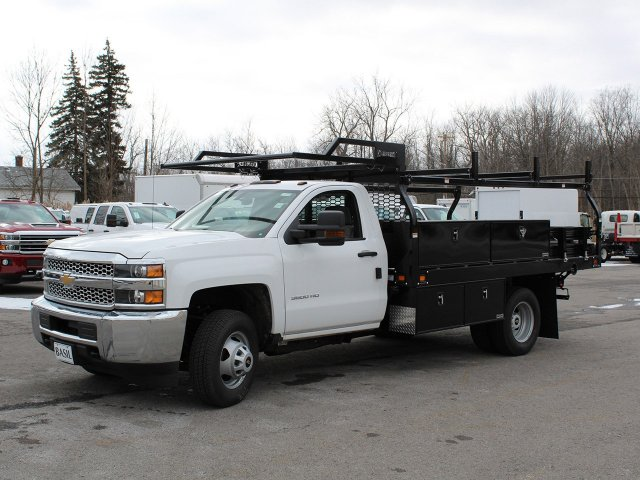 2019 Silverado 3500 Regular Cab DRW 4x4,  Knapheide Contractor Body #19C91T - photo 3
