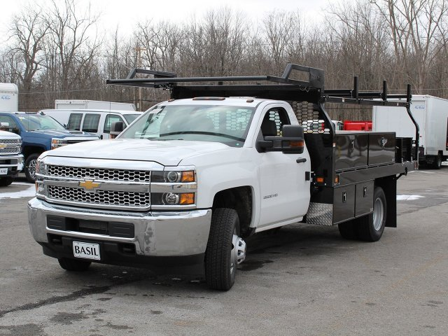 2019 Silverado 3500 Regular Cab DRW 4x4,  Knapheide Contractor Body #19C91T - photo 9