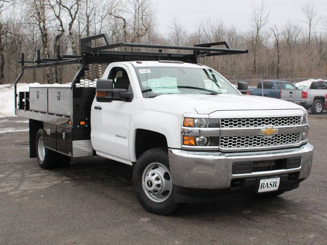 2019 Silverado 3500 Regular Cab DRW 4x4,  Knapheide Contractor Body #19C92T - photo 10