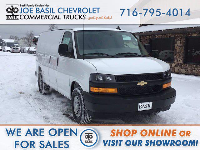 2021 Chevrolet Express 2500 4x2, Masterack Upfitted Cargo Van #21C57T - photo 1