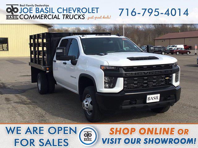 2021 Chevrolet Silverado 3500 Crew Cab AWD, Reading Stake Bed #21C83T - photo 1