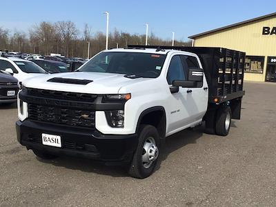 2021 Chevrolet Silverado 3500 Crew Cab AWD, Reading Steel Stake Bed #21C83T - photo 3