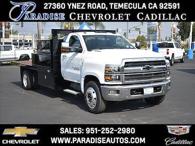 2021 Silverado 6500 Regular Cab DRW 4x2,  Custom Truck Body & Equipment, Inc. Flatbed Platform Body #F21115 - photo 1