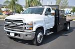 2021 Silverado 6500 Regular Cab DRW 4x2,  Custom Truck Body & Equipment, Inc. Flatbed Platform Body #F21115 - photo 4