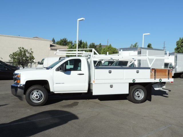 2015 Silverado 3500 Regular Cab, Harbor Contractor Body #M15981 - photo 6
