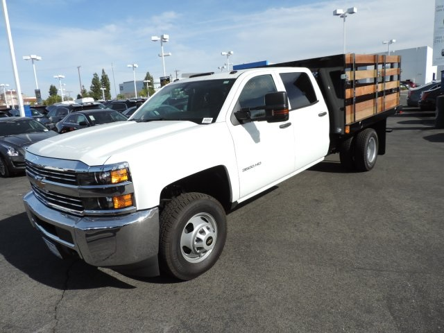 2016 Silverado 3500 Crew Cab, Harbor Flat/Stake Bed #M161028 - photo 5