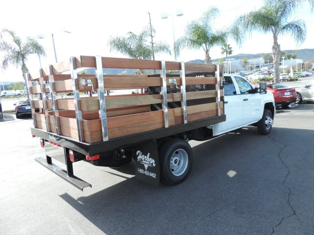 2016 Silverado 3500 Crew Cab, Harbor Flat/Stake Bed #M161028 - photo 2
