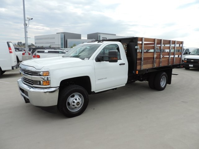 2016 Silverado 3500 Regular Cab, Harbor Flat/Stake Bed #M16840 - photo 5