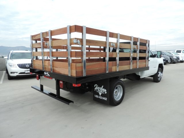 2016 Silverado 3500 Regular Cab, Harbor Flat/Stake Bed #M16840 - photo 2