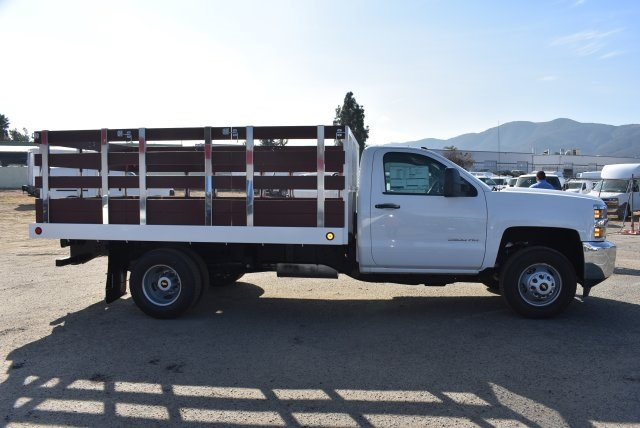 2017 Silverado 3500 Regular Cab DRW,  Royal Flat/Stake Bed #M171153 - photo 9