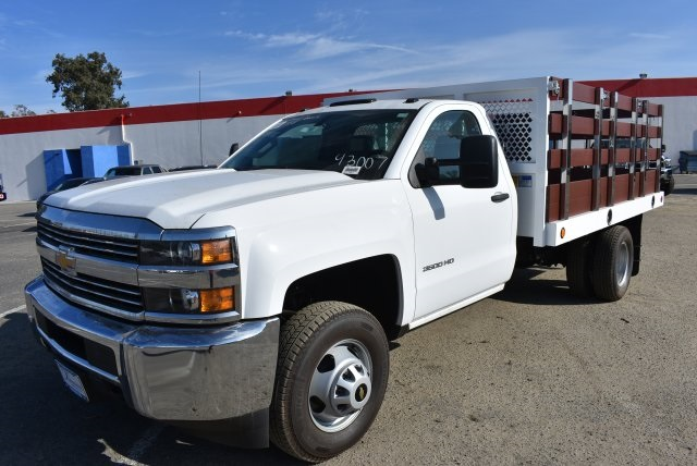 2017 Silverado 3500 Regular Cab DRW,  Royal Flat/Stake Bed #M171153 - photo 5