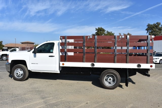 2017 Silverado 3500 Regular Cab DRW,  Royal Flat/Stake Bed #M171153 - photo 6