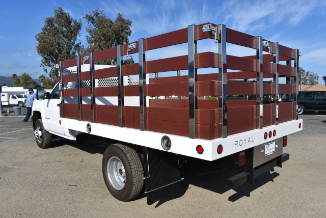 2017 Silverado 3500 Regular Cab DRW,  Royal Flat/Stake Bed #M171153 - photo 7