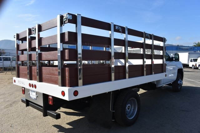2017 Silverado 3500 Regular Cab DRW,  Royal Flat/Stake Bed #M171153 - photo 2