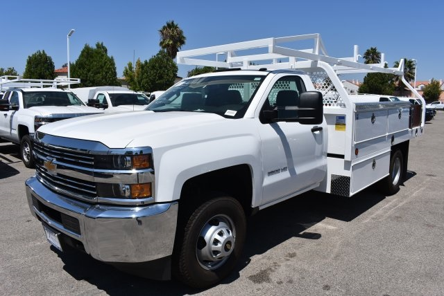 2017 Silverado 3500 Regular Cab DRW,  Royal Contractor Body #M171157 - photo 4