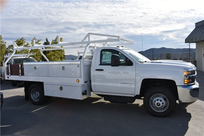 2017 Silverado 3500 Regular Cab DRW, Royal Contractor Bodies Contractor Body #M171161 - photo 9