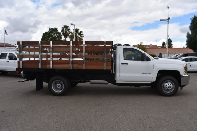 2017 Silverado 3500 Regular Cab, Harbor Black Boss Stakebed Flat/Stake Bed #M171182 - photo 9