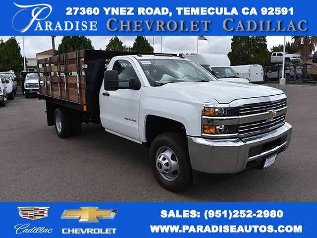 2017 Silverado 3500 Regular Cab, Harbor Black Boss Stakebed Flat/Stake Bed #M171182 - photo 1