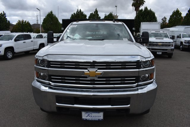 2017 Silverado 3500 Regular Cab, Harbor Black Boss Stakebed Flat/Stake Bed #M171182 - photo 4