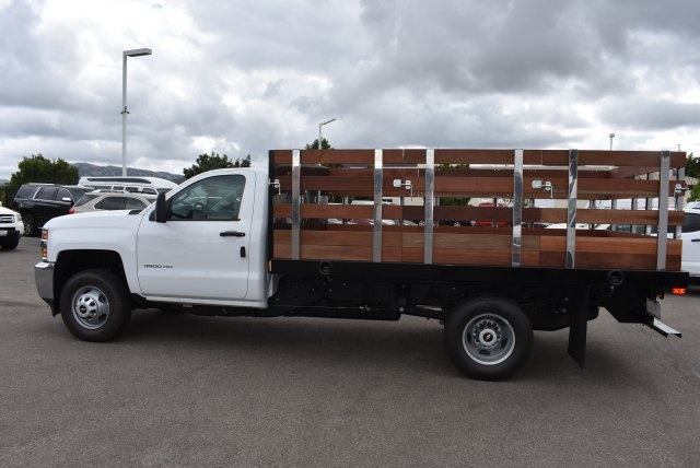 2017 Silverado 3500 Regular Cab, Harbor Black Boss Stakebed Flat/Stake Bed #M171182 - photo 6