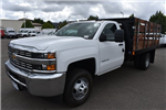 2017 Silverado 3500 Regular Cab, Harbor Black Boss Stakebed Flat/Stake Bed #M171182 - photo 5