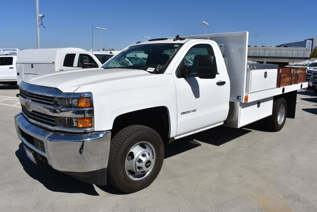 2017 Silverado 3500 Regular Cab DRW, Harbor Platform Body #M171215 - photo 5