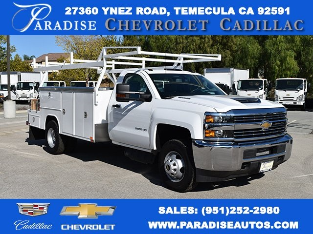 2017 Silverado 3500 Regular Cab DRW 4x2,  Knapheide Contractor Bodies Contractor Body #M171258 - photo 1