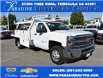 2017 Silverado 3500 Regular Cab DRW, Harbor Contractor Body #M171373 - photo 1