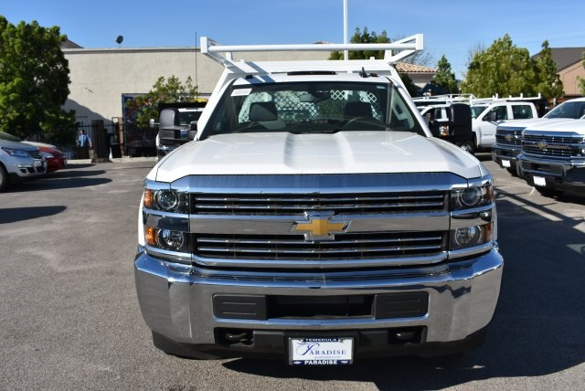2017 Silverado 3500 Regular Cab DRW, Harbor Contractor Body #M171379 - photo 4
