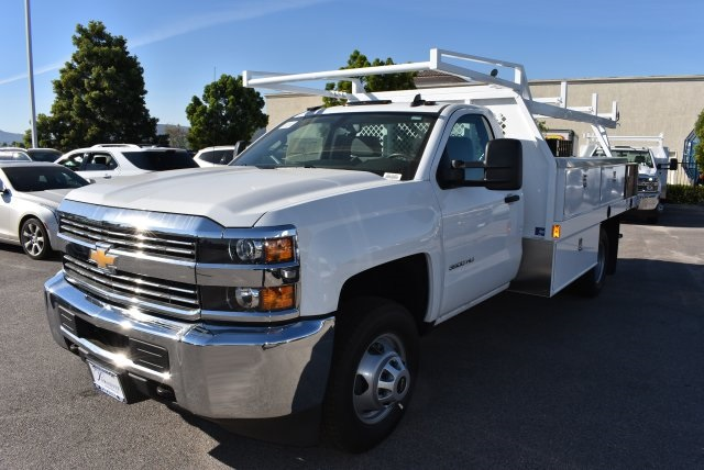 2017 Silverado 3500 Regular Cab DRW, Harbor Contractor Body #M171379 - photo 5