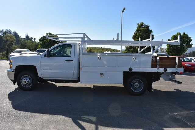 2017 Silverado 3500 Regular Cab DRW, Harbor Contractor Body #M171379 - photo 6