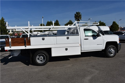 2017 Silverado 3500 Regular Cab DRW,  Harbor Standard Contractor Contractor Body #M171379 - photo 9