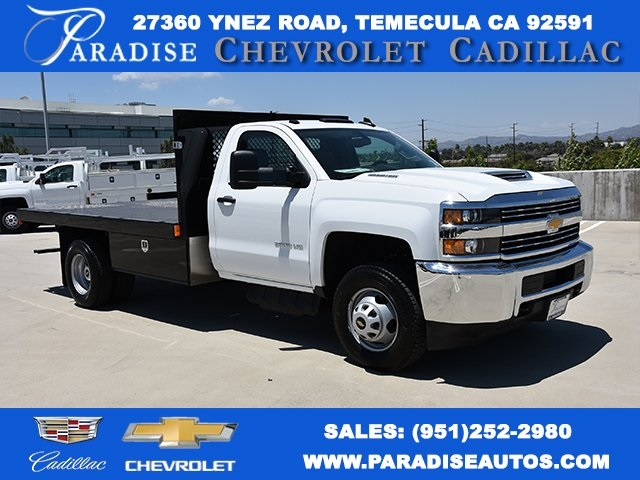 2017 Silverado 3500 Regular Cab DRW 4x2,  Harbor Black Boss Platform Body #M171456 - photo 1