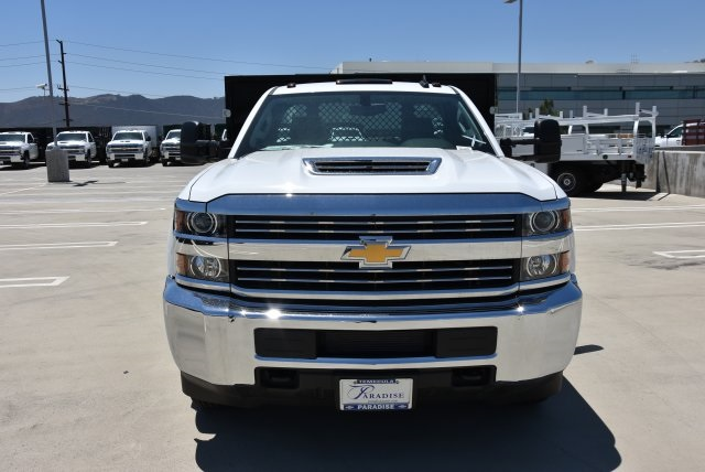 2017 Silverado 3500 Regular Cab DRW 4x2,  Harbor Black Boss Platform Body #M171456 - photo 4