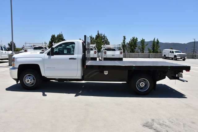 2017 Silverado 3500 Regular Cab DRW 4x2,  Harbor Black Boss Platform Body #M171456 - photo 6