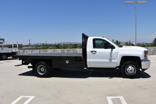 2017 Silverado 3500 Regular Cab DRW 4x2,  Harbor Black Boss Platform Body #M171456 - photo 9