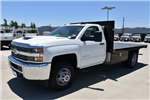 2017 Silverado 3500 Regular Cab DRW 4x2,  Harbor Black Boss Platform Body #M171456 - photo 5