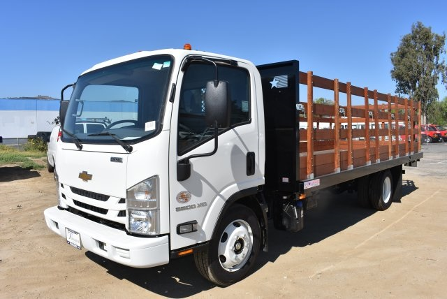 2017 Low Cab Forward Regular Cab, American Truck Bodies Flat/Stake Bed #M17315 - photo 4