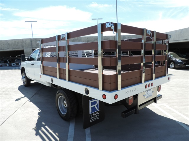2017 Silverado 3500 Crew Cab, Royal Flat/Stake Bed #M17436 - photo 7