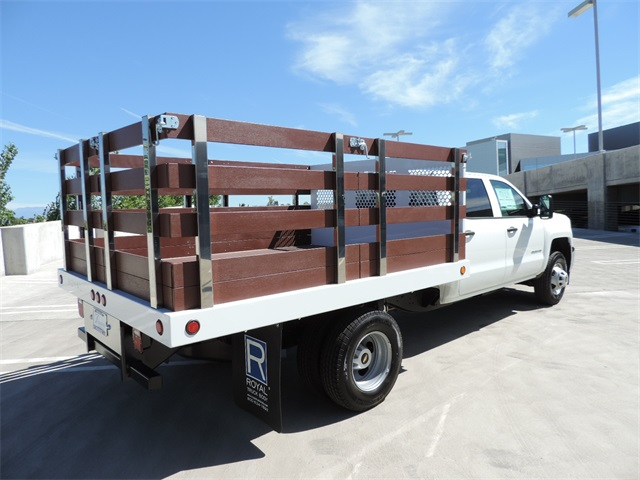 2017 Silverado 3500 Crew Cab, Royal Flat/Stake Bed #M17436 - photo 2