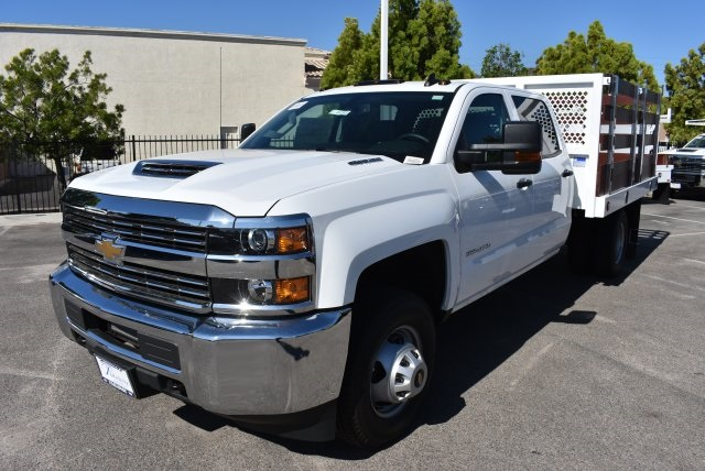 2017 Silverado 3500 Crew Cab, Royal Flat/Stake Bed #M17453 - photo 4