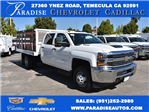2017 Silverado 3500 Crew Cab, Royal Flat/Stake Bed #M17453 - photo 1